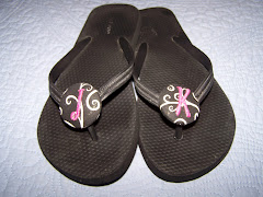 Monogrammed Flip Flops (No Bow)
