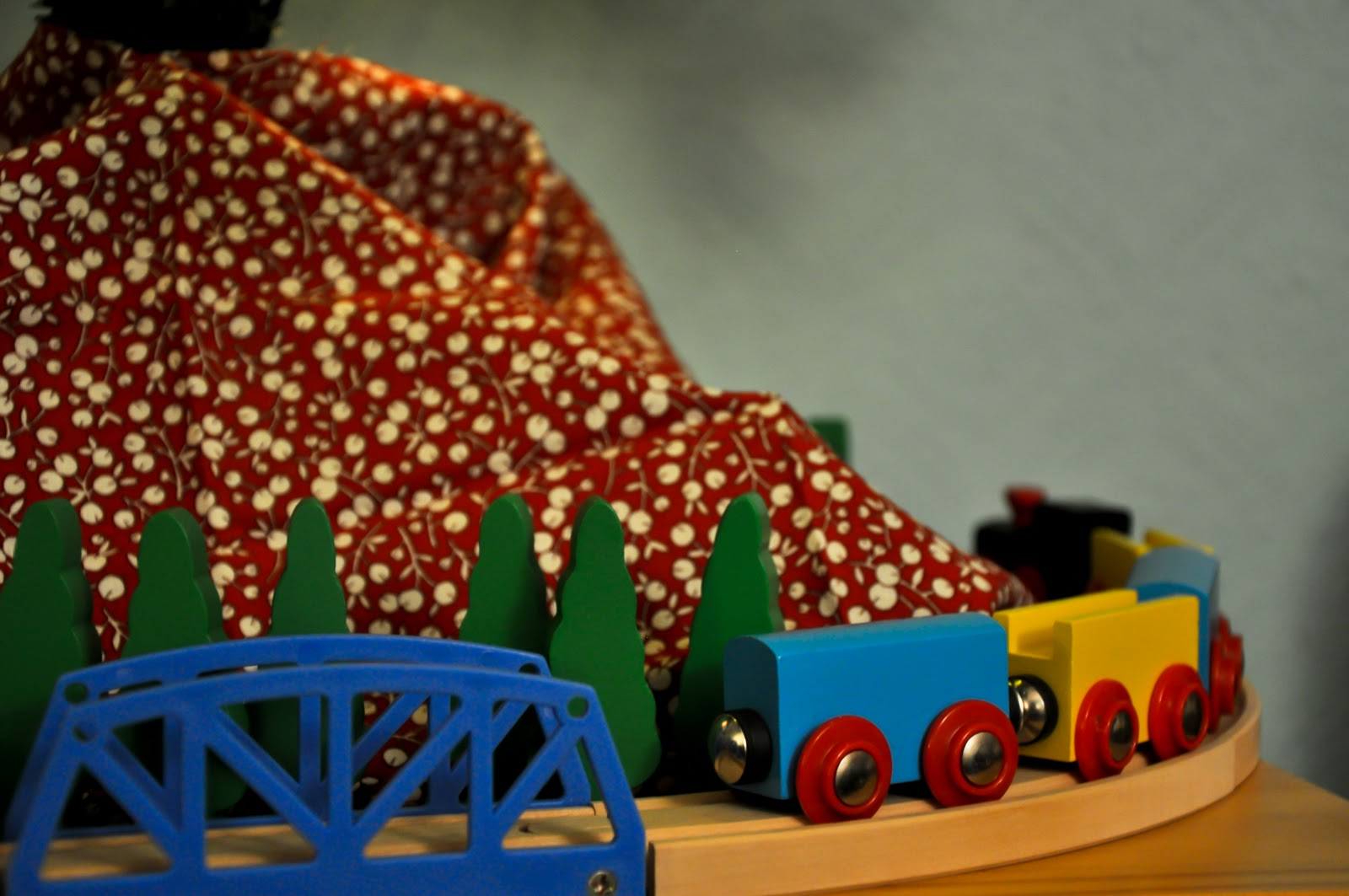 Train Set Around The Christmas