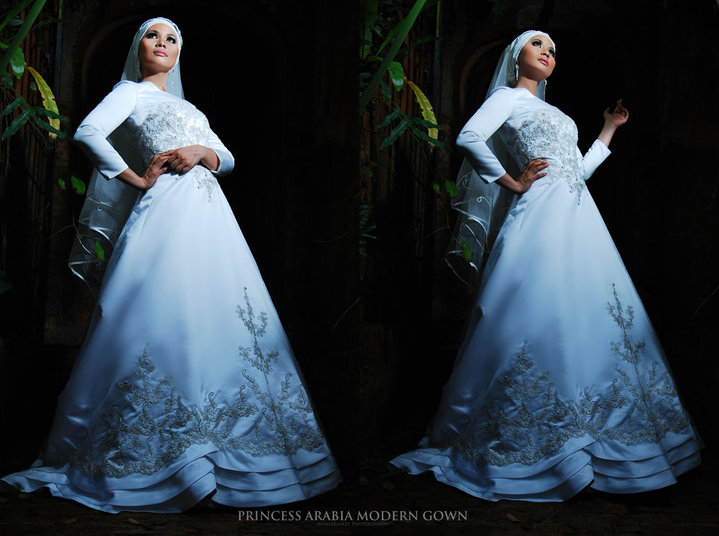 Muslim Wedding Bridesmaid Dresses : Proposals wedding dreams come true white muslim gowns