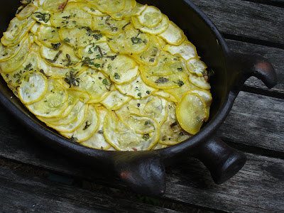 french tart: summer squash gratin