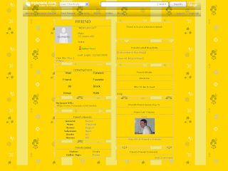 Yellow Tiny Myspace Layouts