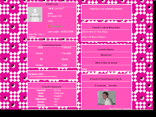Pink Skinny Myspace Layouts