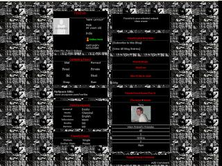 Black Skinny Myspace Layouts