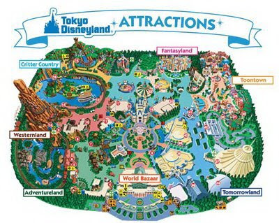 Disneyland+map+of+park