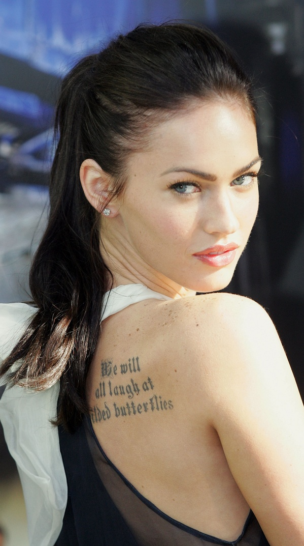 megan fox new tattoo 2011
