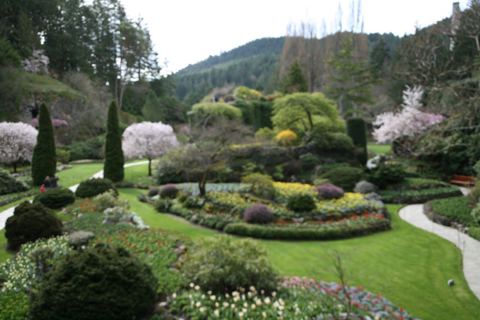Delights of the heart walk through butchart gardens - When you walk through the garden ...