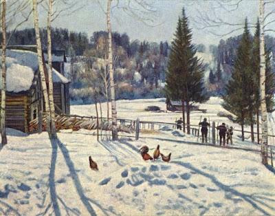 "...картине К.Ф.Юона  ""Конец зимы."
