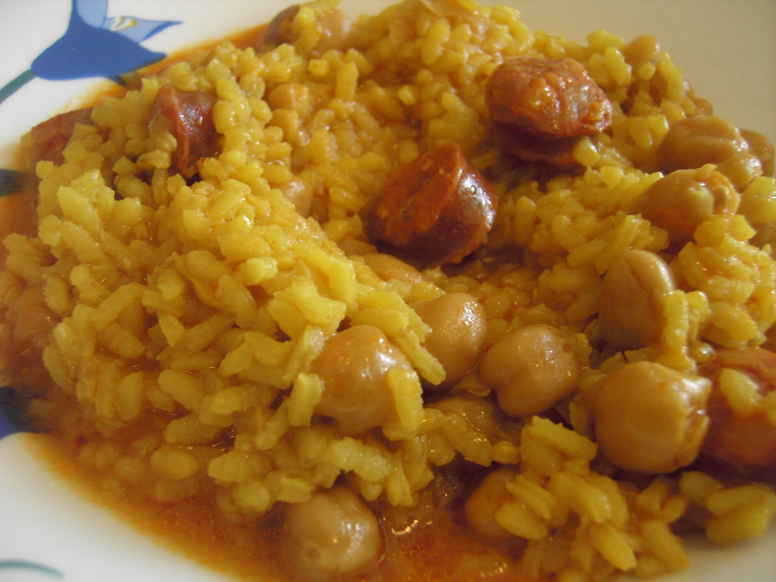 Panaceite garbanzos con arroz - Potaje garbanzos con arroz ...