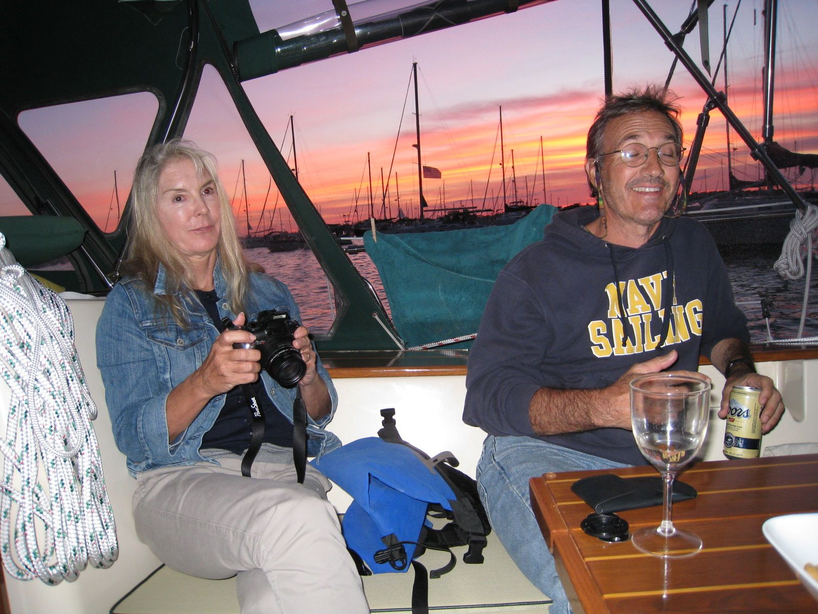 There were several Island Packets and we anchored by s/v Simple Life, ...