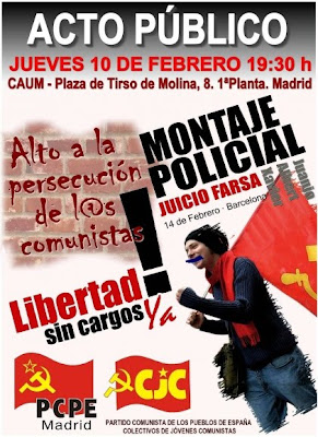 Eventos en todo el Estado contra la persecución de los comunistas. Acto-madrid-juicio-bcn
