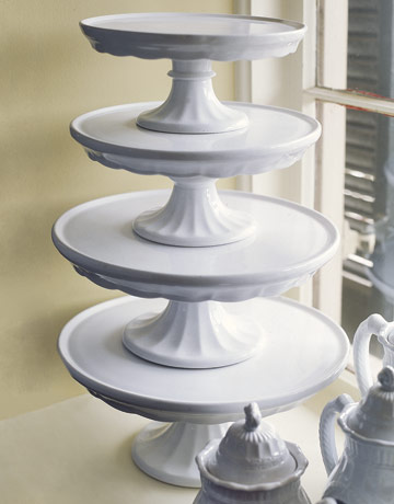 Antique Ironstone Cake Stand