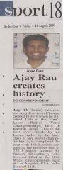 Ajay Rau creates history