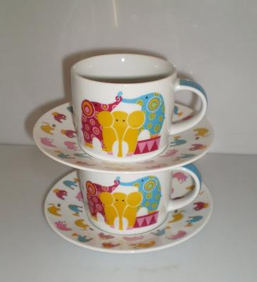 Elefántos csésze készlet