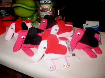 Kesztyű elefántok