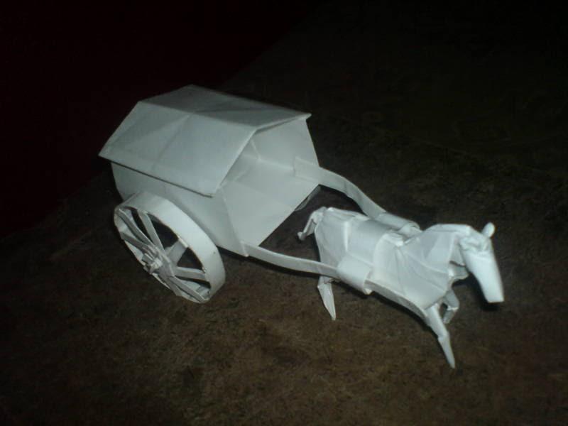 crazy crafts origami horse cart 4