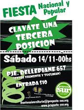 Fiesta Nacional y Popular - 14/11 - 00hs - Frente Universitario Proyecto Sur