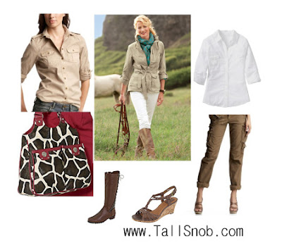 womens tall safari outfit and tall safari clothes