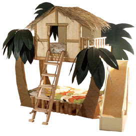 surf shack tropical bed