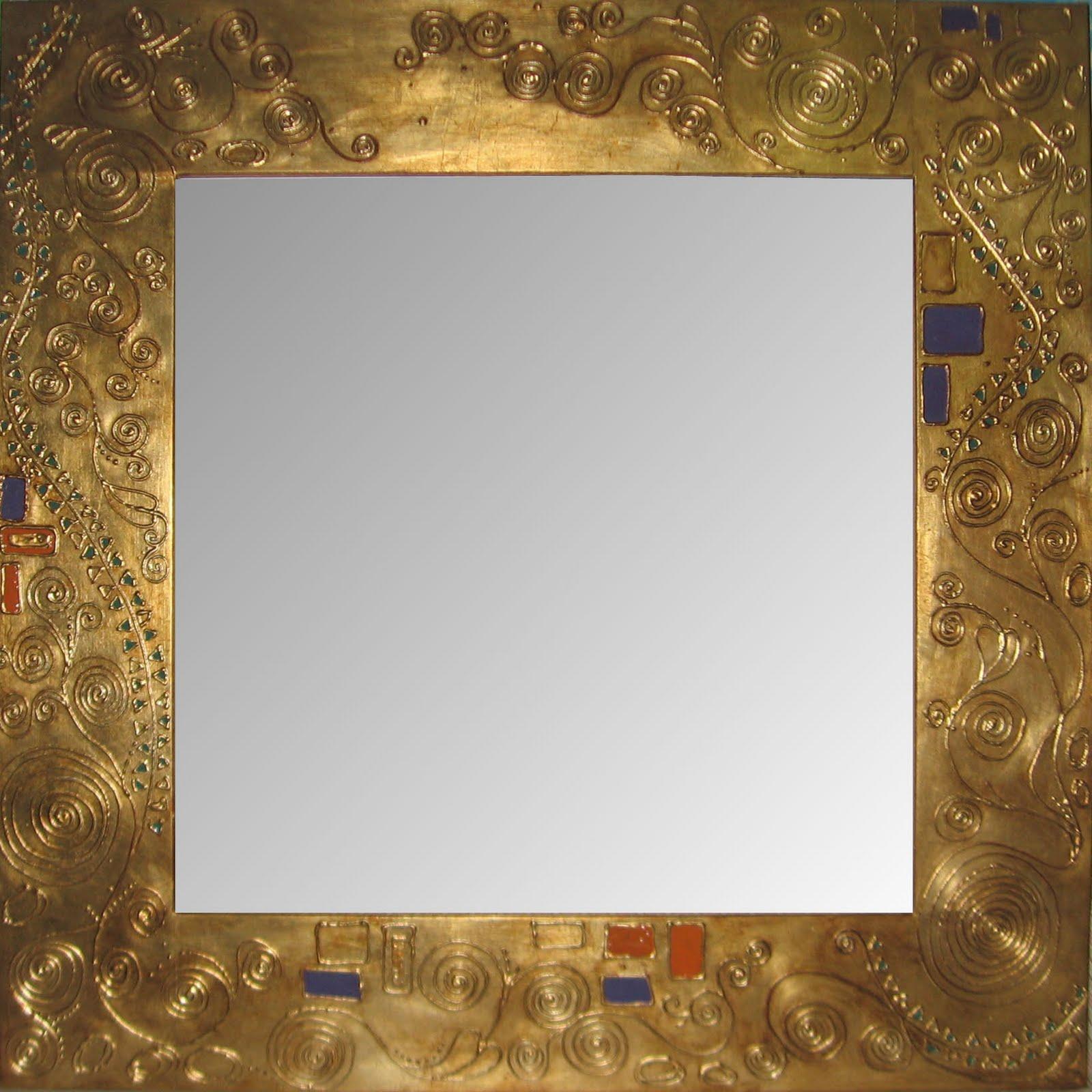 Specchio klimt grande oro argento e fantasia - Specchio grande ...