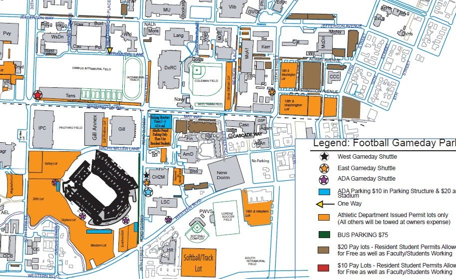Oregon State Beavers Gameday Experience Parking And Tailgating