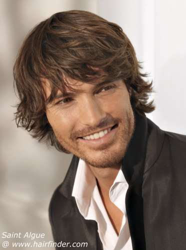 more Layered Hair styles. Here we see a men's short layered cut that follows