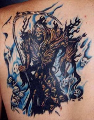 Tattoos - Evil Grim Reaper tattoos - reaper. click to view large image