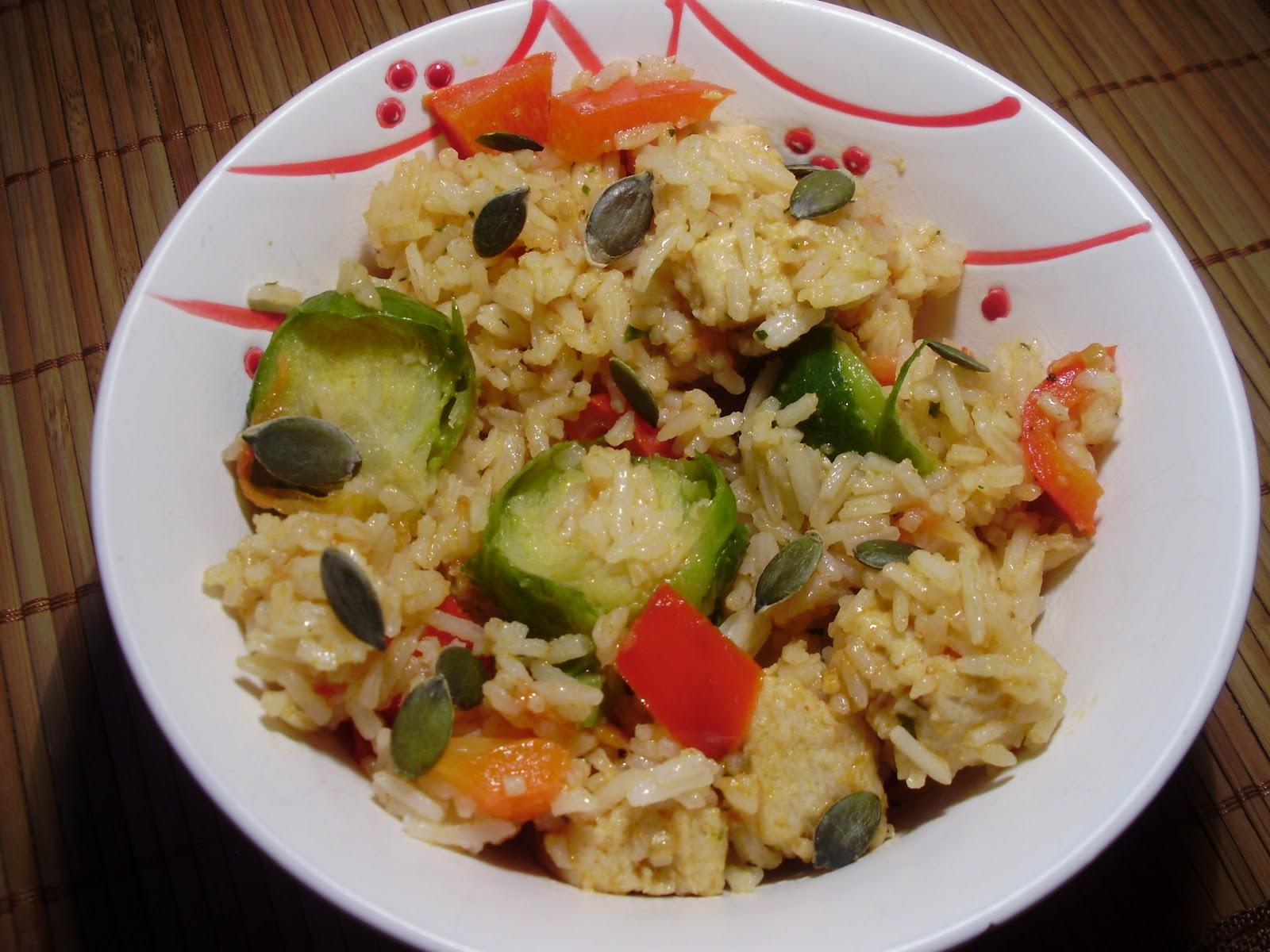 Chilli powder arroz con coles de bruselas al estilo marroqu - Como cocinar coles de bruselas ...