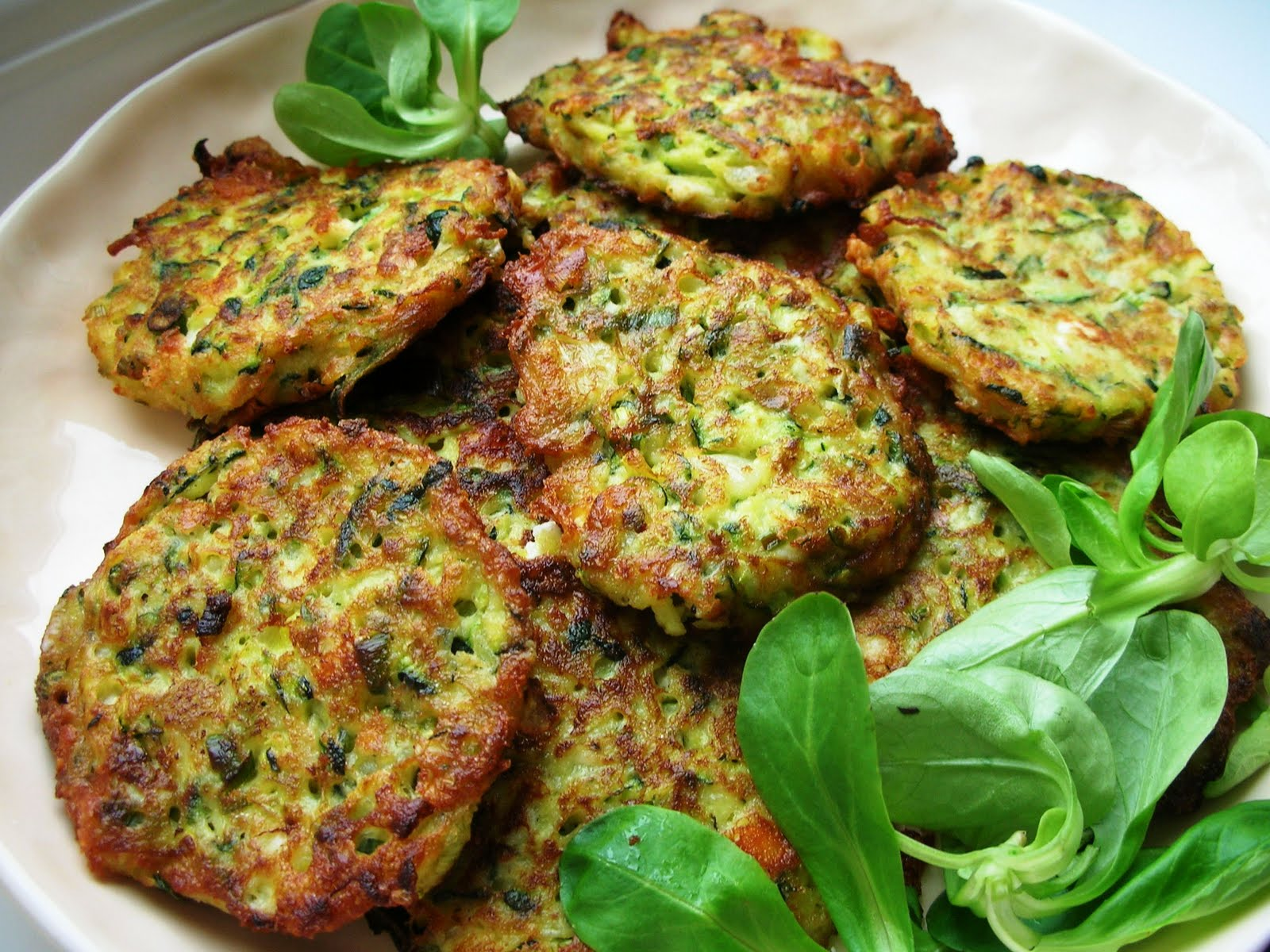 Zucchini (Courgette) Fritters with Feta and Dill - Mucver | Ozlem's ...