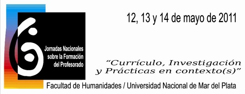 VI Jornadas Nacionales sobre la Formación del Profesorado