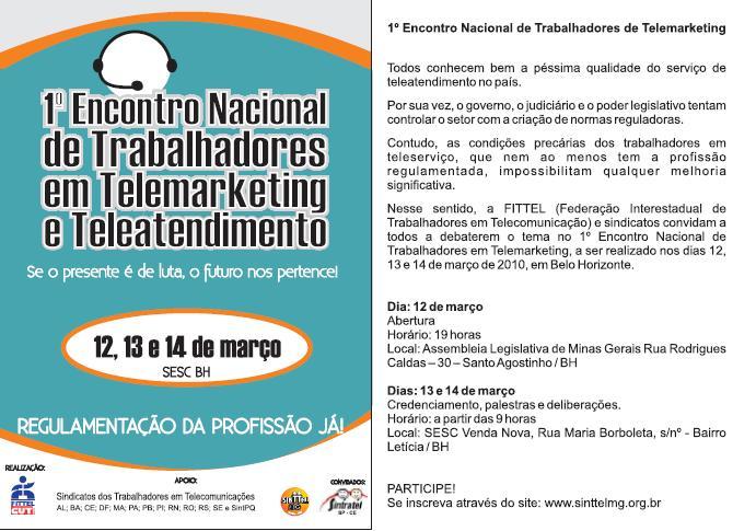 1º Encontro Nacional de Trabalhadores em Telemarketing e Tele-atendimento