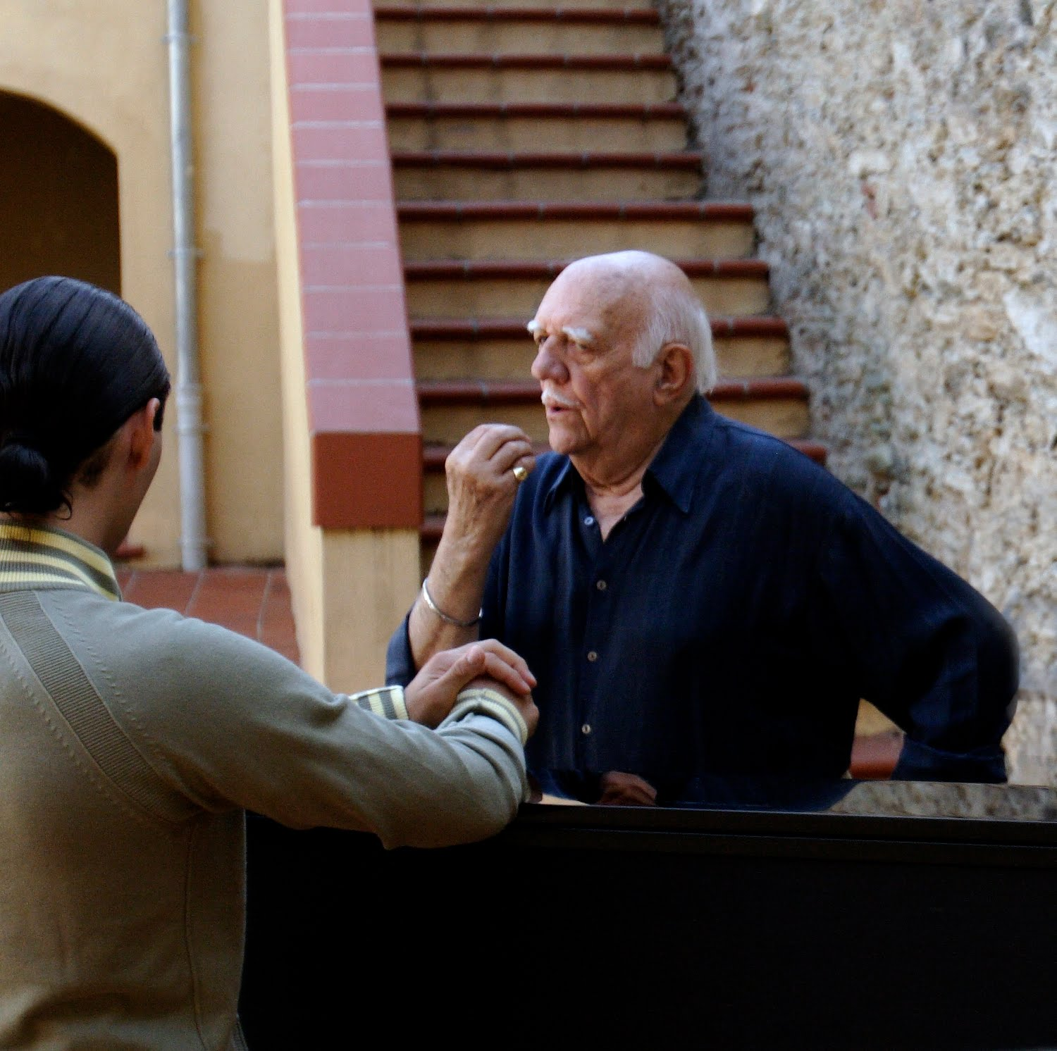 Bacquier with a student, 2006