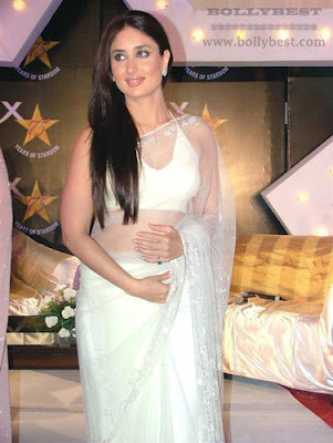 Hot Kareena Kapoor White Saree HD