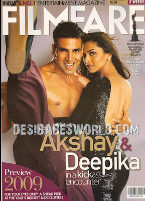 Akshay Deepika on Filmfare Cover