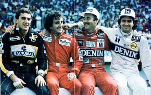 Airton Senna, Prost, Mansell e Piquet