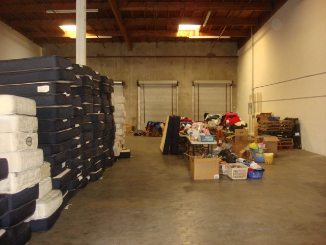 Bookstore and claim a bunch of warehouse shelving, desks, office chairs,