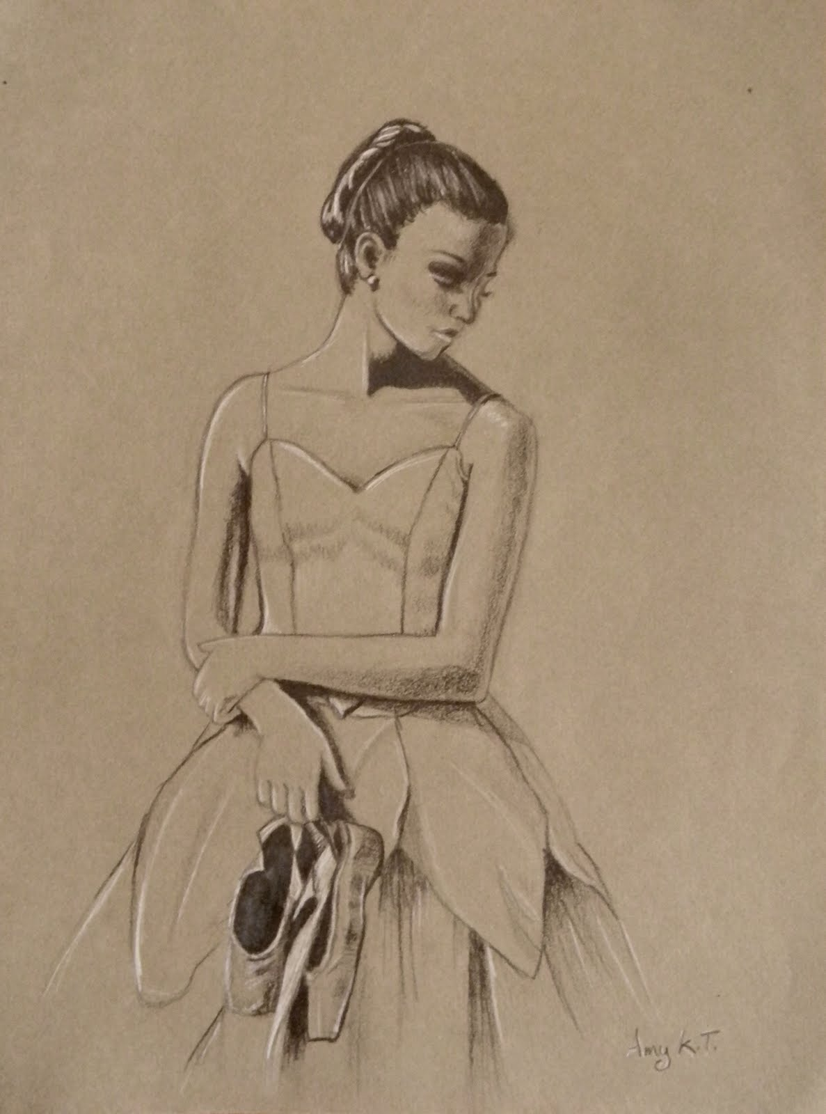 Pleasing Aroma To God Ballerina Drawing