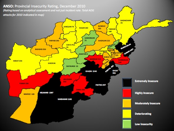 Security Map Map of The Security Situation