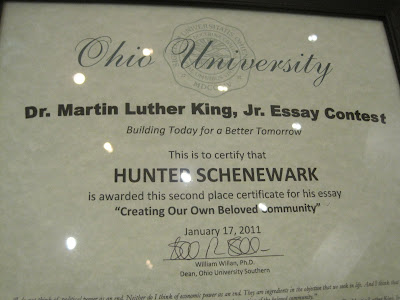 boys in the good martin luther king jr essay contest
