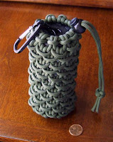 Stormdrane 39 s blog paracord lantern pouch can koozie for How to make a paracord bag
