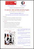 Conferenza stampa di presentazione del libro In carcere: del suicidio ed altre fughe