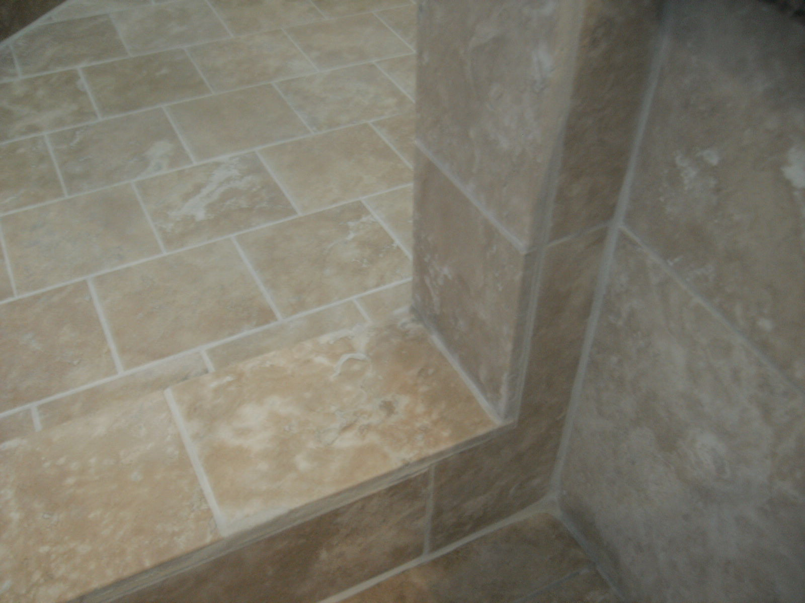 black mold atra and travertine tile