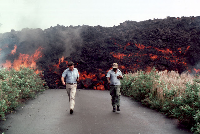 funny volcano lava flow