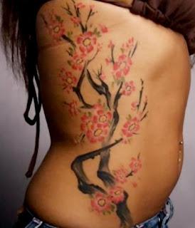 Japanese Tattoo, Female Tattoo, Cherry Blossom Tattoo, Side Body Tattoo, Bird Tattoo