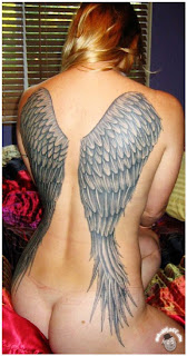 Angel Tattoo, Wings Tattoo, Back Body Tattoo, Back Piece Tattoo, Female Tattoo