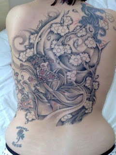 Nice Japanese Tattoos Especially Japanese Geisha Tattoo Designs With Image Japanese Geisha Back Piece Tattoo For Women Tattoos Picture 1