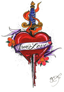 Tattoo Designs, Heart Tattoo, Flame Tattoo,