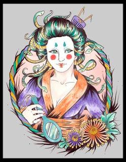 Japanese Geisha Tattoo Designs Gallery 23