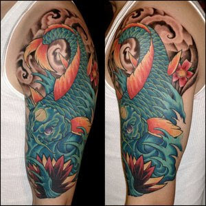 Japanese Tattoos Style Especially Koi Fish Tattoo With Image Japanese Koi Fish Tattoo Designs For Male Shoulder Tattoo Gallery Picture 2
