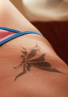 Nice Lower Front Tattoo Ideas With Butterfly