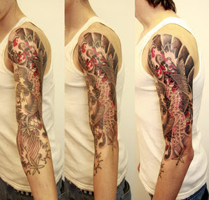 Amazing Art of Arm Japanese Tattoo Ideas With Koi Fish Tattoo Designs With Image Arm Japanese Koi Fish Tattoo Gallery 3